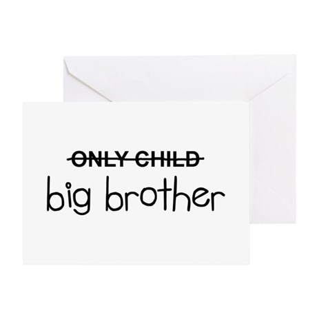 Only Big Brother Greeting Card by LabelMakers