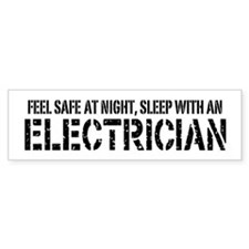 Feel Safe With An Electrician Bumper Car Sticker