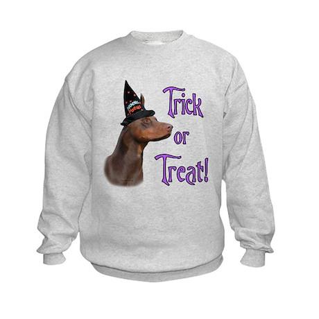Doberman Trick Kids Sweatshirt