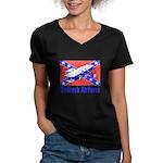 Redneck Airforce Women's V-Neck Dark T-Shirt