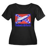 Redneck Airforce Women's Plus Size Scoop Neck Dark