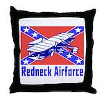 Redneck Airforce Throw Pillow