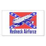 Redneck Airforce Rectangle Sticker