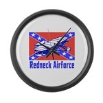 Redneck Airforce Large Wall Clock