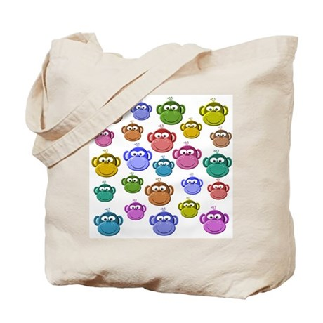 Colored Monkeys Tote Bag