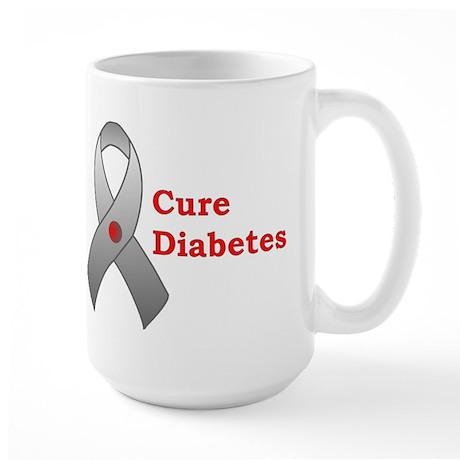 Cure Diabetes Large Mug