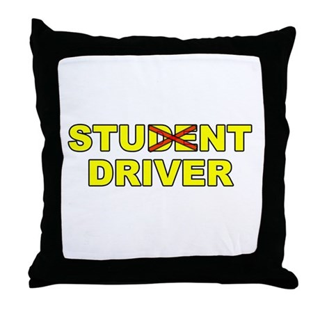 Student Stunt Driver Throw Pillow