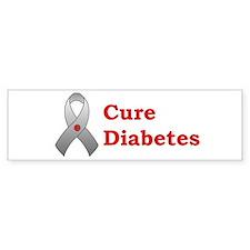 Cure Diabetes Bumper Car Sticker