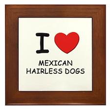 I love MEXICAN HAIRLESS DOGS Framed Tile