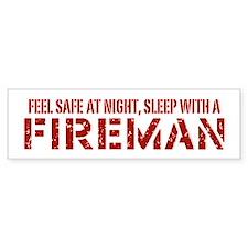 Feel Safe With A Fireman Bumper Car Car Sticker