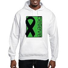 Green (Believe) Ribbon Hoodie