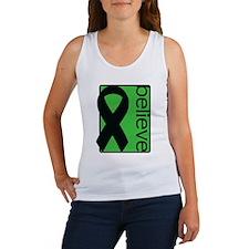 Green (Believe) Ribbon Women's Tank Top