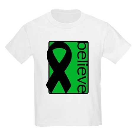 Green (Believe) Ribbon Kids Light T-Shirt