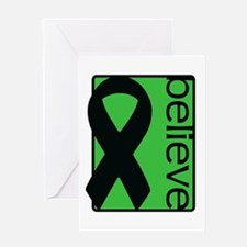 Green (Believe) Ribbon Greeting Card
