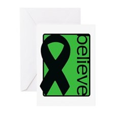 Green (Believe) Ribbon Greeting Cards (Pk of 10)