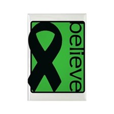 Green (Believe) Ribbon Rectangle Magnet