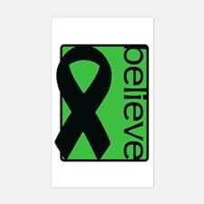 Green (Believe) Ribbon Rectangle Decal