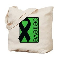 Green (Believe) Ribbon Tote Bag