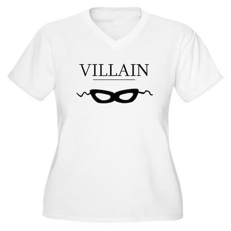 Villain Women's Plus Size V-Neck T-Shirt