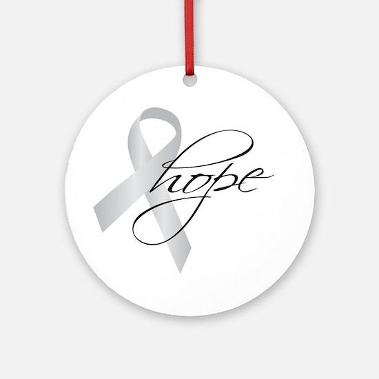 Parkinson's Ribbon Hope Ornament (Round)