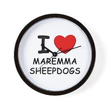 I love MAREMMA SHEEPDOGS Wall Clock