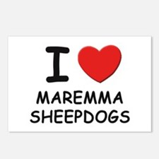 I love MAREMMA SHEEPDOGS Postcards (Package of 8)