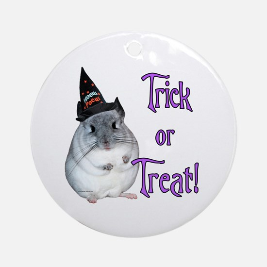 Chinchilla Trick Ornament (Round)