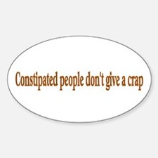 constipated Oval Decal
