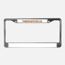 constipated License Plate Frame