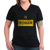Boca juniors Womens V-Neck T-shirts (Dark)