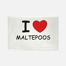 I love MALTEPOOS Rectangle Magnet