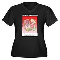 #58 Errors Women's Plus Size V-Neck Dark T-Shirt