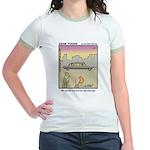 #61 Book on genealogy Jr. Ringer T-Shirt