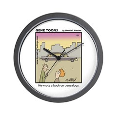 #61 Book on genealogy Wall Clock
