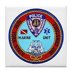 Mamaroneck Harbor Police Tile Coaster