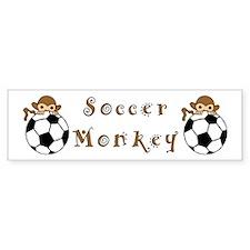 Soccer Monkey Bumper Bumper Sticker