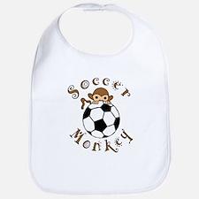 Soccer Monkey Bib
