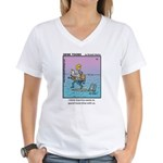 #70 Spend more time Women's V-Neck T-Shirt