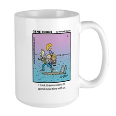 #70 Spend more time Large Mug