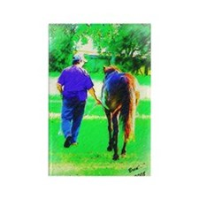 Walk To Pasture Rectangle Magnet