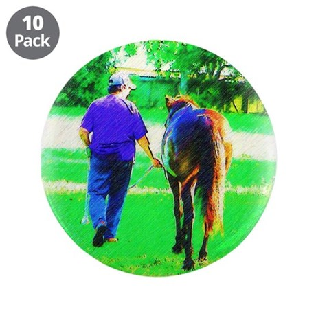 "Walk To Pasture 3.5"" Button (10 pack)"