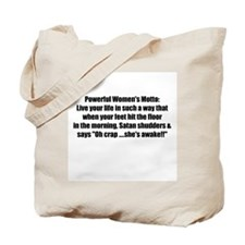Women's Motto Tote Bag