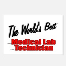 """ The World's Best Medical Lab Technician"" Postcar"