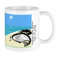 Kicking dead whales Small Mugs