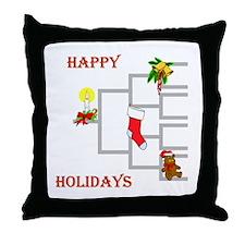Genealogy Christmas<br> Throw Pillow