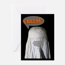 Say Cheese Burqa Photo Greeting Cards (Package of