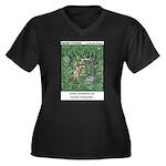#83 Overgrown Women's Plus Size V-Neck Dark T-Shir