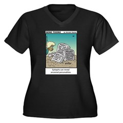 #84 Epitaphs Women's Plus Size V-Neck Dark T-Shirt