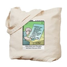 #86 How you think Tote Bag