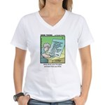 #86 How you think Women's V-Neck T-Shirt
